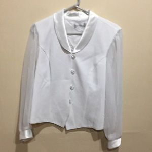 Party ready white blouse
